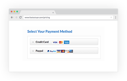 Payment Method for VPN